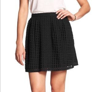 Banana Republic cotton eyelet skirt